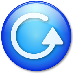 blue play button icon