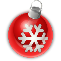 red christmas ball icon
