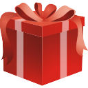 red christmas gift box icon