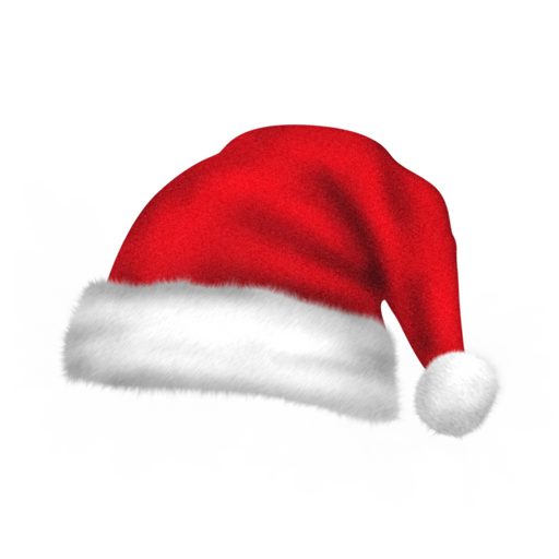 red christmas hat icon