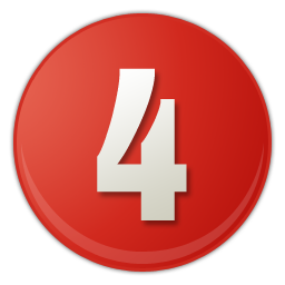 red number 4 icon