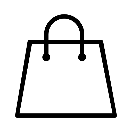 supermarket shopping bag icon