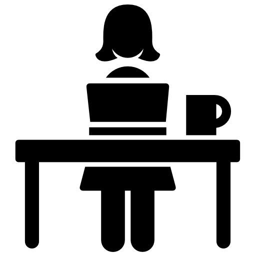 woman computer icon