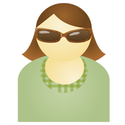woman with sunglasses icon