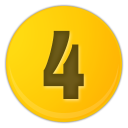 yellow number 4 icon