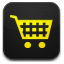 yellow shopping cart icon